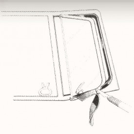 Joint entre vitre de déflecteur et cadre T2 50-67