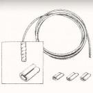 Set de 2 câbles de tension latéraux gauche et droit ...