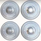 Set de 4 couvres tambours 5 X 205 imitation Porsche ...