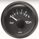Pression d'huile 0-5 bars diam 52mm fond noir VDO