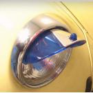 Set de 2 paupières de phares bleues 8/67-