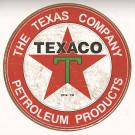 plaque  ronde PUB texaco dia 32cm acier bord rouge