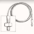 Câble de tension arrière cabriolet 8/67-