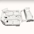 Kit moquette KG14 cabriolet 20pièces grise 69-74