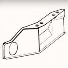 Déflecteur d'air en avant du cache-cylindre gauche (...
