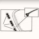 Set de 2 tubes passe fils de dégivrage de lunette ar...