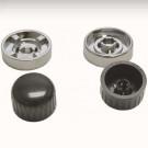 kit boutons pour autoradio Retrosound chr/noir