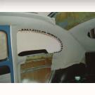 Ciel de toit 58-63 découvrable en tissu ivoire (TMI ...