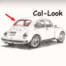 Joint de lunette arrière cal look  8/71- et pare-bri...