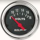 voltmetere autometer classic chrome