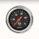 mano pression huile  autometer classic chrome